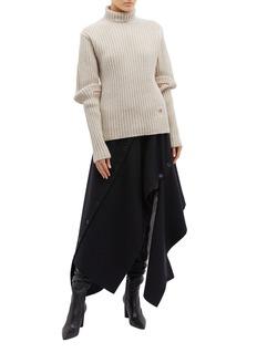 Victoria Beckham 褶裥灯笼袖羊毛罗纹针织衫