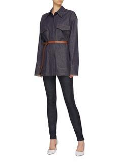 Victoria Beckham 翻盖口袋oversize原色牛仔夹克