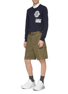 Alexander McQueen 针扣腰带斜纹布短裤