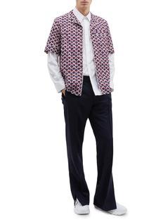 Valentino 品牌名称半圆印花纯棉衬衫