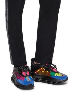 Versace Chain Reaction拼接设计印花运动鞋