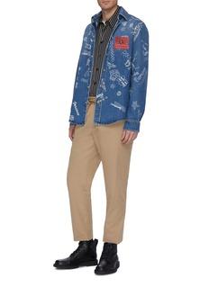 Versace 美杜莎刺绣抽绳斜纹布休闲裤