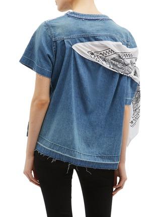背面 - 点击放大 - sacai - 民族风布饰拼接牛仔上衣