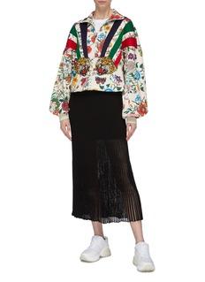Gucci 虎头徽章花卉印花拉链夹克