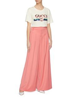 Gucci oversize彩虹亮片logo纯棉T恤