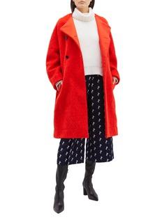CHLOÉ 系带双排扣混羊毛大衣
