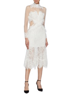 Jonathan Simkhai 拼接设计蕾丝立领连衣裙