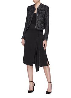 Jonathan Simkhai 拉链设计垂坠布饰半身裙