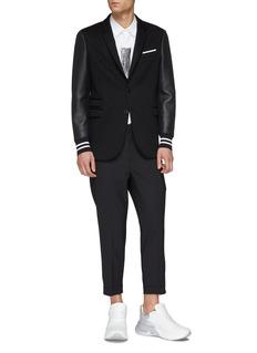 NEIL BARRETT 皮革衣袖拼接西服夹克
