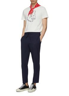 Maison Kitsuné 系列名称狐狸头印花纯棉T恤