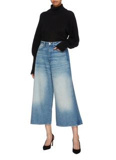 3x1 Porter Wideleg搭叠布饰水洗阔腿牛仔裤