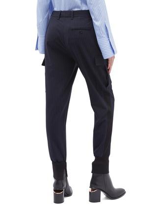 背面 - 点击放大 - 3.1 Phillip Lim - 翻盖口袋暗条纹休闲裤