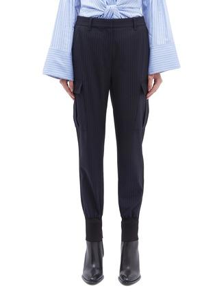 首图 - 点击放大 - 3.1 Phillip Lim - 翻盖口袋暗条纹休闲裤