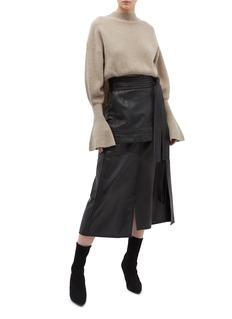 3.1 PHILLIP LIM 搭叠拼接设计小羊皮半裙