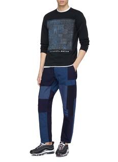 FDMTL 拼接设计纯棉锥形裤