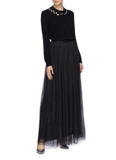 NEEDLE & THREAD Dotted波点网纱及地半身裙