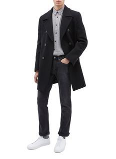 EQUIL Edinburgh双排扣混羊毛大衣