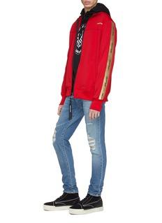 Daniel Patrick 品牌名称闪亮侧条纹外套