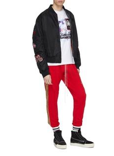 Daniel Patrick 品牌名称闪亮侧条纹休闲裤
