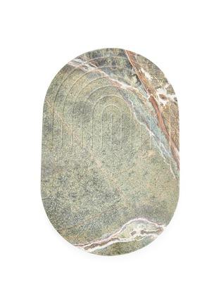 首图 –点击放大 - TOM DIXON - Rock椭圆形大理石餐板-深绿色