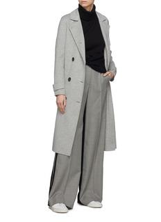 EQUIL Helsinki双排扣羊毛混羊绒大衣