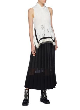 模特儿示范图 - 点击放大 - 3.1 Phillip Lim - 罗缎布饰百褶半裙