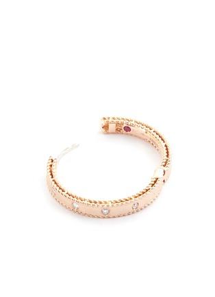 细节 - 点击放大 - ROBERTO COIN - Princess钻石红宝石18k玫瑰金耳环