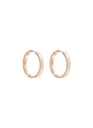 首图 - 点击放大 - ROBERTO COIN - Princess钻石红宝石18k玫瑰金耳环