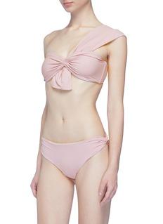 Marysia Venice拼接设计露单肩比基尼泳衣