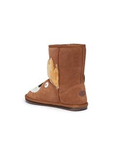 EMU AUSTRALIA Leo Lion儿童款狮子造型绒面真皮短靴