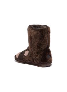 EMU Australia Brown Bear儿童款小熊造型绒面真皮短靴
