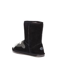 EMU AUSTRALIA Panther儿童款黑豹造型绒面真皮短靴