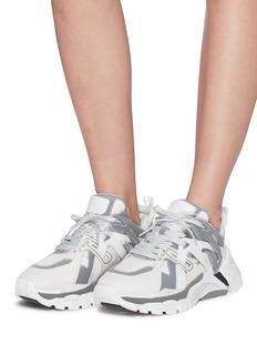 ASH Flash真皮网格拼接网眼布运动鞋