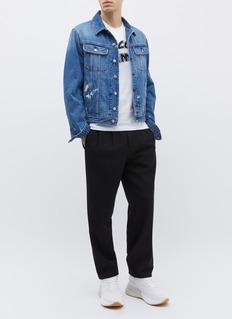 MCQ ALEXANDER MCQUEEN 品牌名称刺绣纯棉T恤