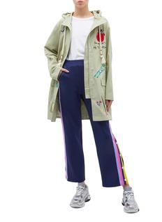 MIRA MIKATI 拼色针织侧条纹休闲裤