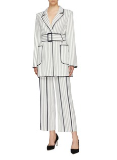 C/MEO COLLECTIVE  Effigurate针扣腰带条纹西服外套