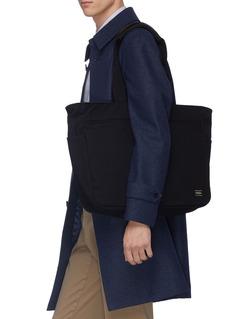 TRUNK x PORTER抗水石蜡涂层纯棉帆布托特包