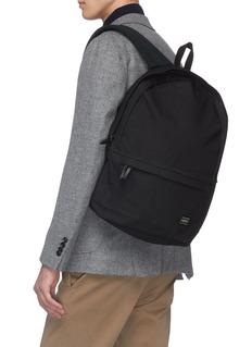 TRUNK x PORTER抗水石蜡涂层纯棉帆布双肩包