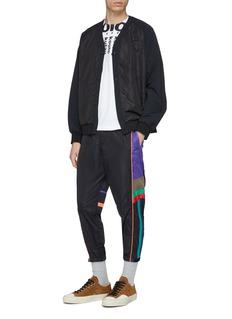 kolor 拼色侧条纹尼龙休闲裤