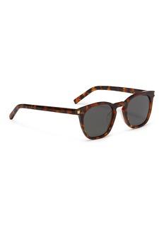 SAINT LAURENT Classic 28玳瑁板材方框太阳眼镜