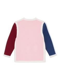 PH5 儿童款中性款条纹围边拼色针织衫