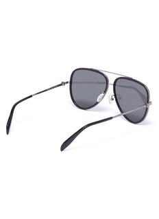 Alexander McQueen 骷髅头缀饰oversize飞行员太阳眼镜