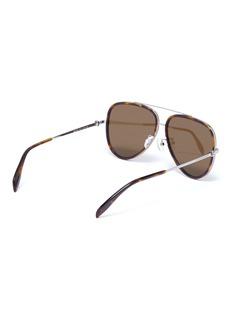 Alexander McQueen 骷髅头缀饰oversize琥珀飞行员太阳眼镜