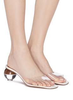 NEOUS Opus圆球鞋跟PVC穆勒鞋