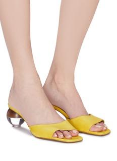 NEOUS Opus圆球鞋跟绒面真皮搭带穆勒鞋