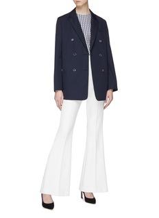 Valentino 金属V字缀饰双排扣西服外套