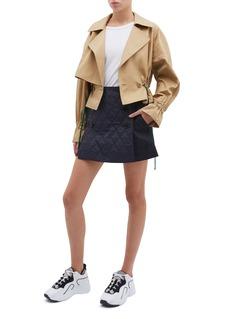 TIBI 可拆式绗缝布饰牛仔裙裤