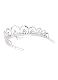 HEFANG 方晶锆石纯银蕾丝皇冠