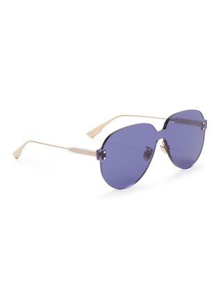 模特儿示范图 - 点击放大 - DIOR - Dior Colour Quake 3飞行员太阳眼镜