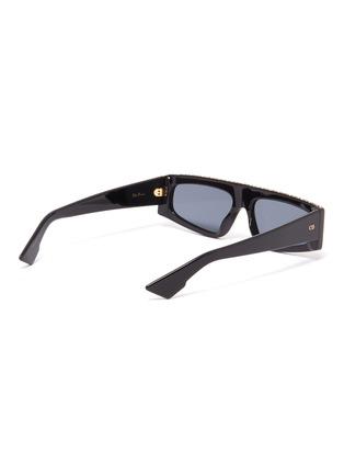 模特儿示范图 - 点击放大 - DIOR - 仿水晶几何板材太阳眼镜